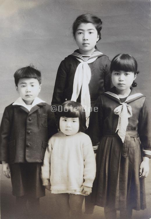 Japanese children in school uniform 1949