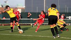 Hayley Ladd of Bristol City Women shoots at goal - Mandatory by-line: Robbie Stephenson/JMP - 10/09/2016 - FOOTBALL - Stoke Gifford Stadium - Bristol, England - Bristol City Women v Watford Ladies - FA Women's Super League 2