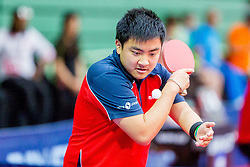 (FRA) ZHAO Antoine in action during 15th Slovenia Open - Thermana Lasko 2018 Table Tennis for the Disabled, on May 10, 2018 in Dvorana Tri Lilije, Lasko, Slovenia. Photo by Ziga Zupan / Sportida