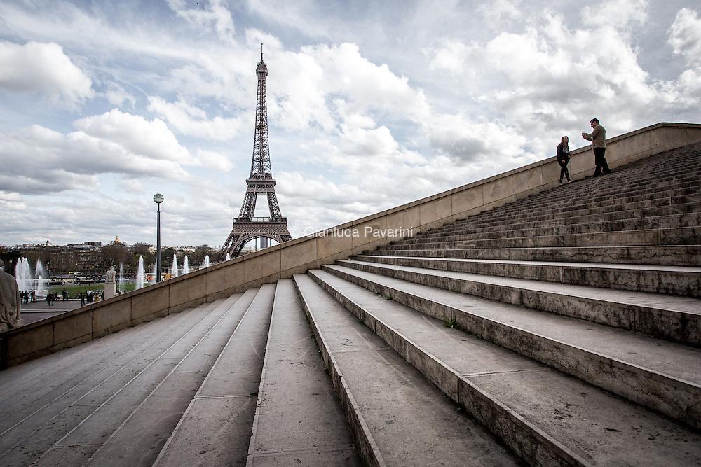 Paris landscapes, Tour Eiffel. Eiffel Tower