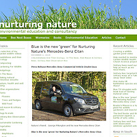 Blue is the new &lsquo;green&rsquo; for Nurturing Nature&rsquo;s Mercedes-Benz Citan<br /> <br /> Award-winning activist George Pilkington is passionate about all things environmental, so his new van had to tick all the right &lsquo;green&rsquo; boxes.  His choice: a Citan BlueEFFICIENCY from Mercedes-Benz.<br /> <br /> Mr Pilkington&rsquo;s Warrington-based business, Nurturing Nature, has just taken delivery of its new vehicle from local Mercedes-Benz Dealer Enza. Powered by a frugal 55 kW (75 hp) 1.4-litre diesel engine, the Long-bodied Citan 108 CDI BlueEFFICIENCY is capable of a market-leading 65.7 mpg, and produces carbon dioxide emissions as low as 112 g/km.