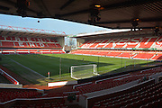 City ground pitch during the Sky Bet Championship match between Nottingham Forest and Bolton Wanderers at the City Ground, Nottingham, England on 16 January 2016. Photo by Alan Franklin.