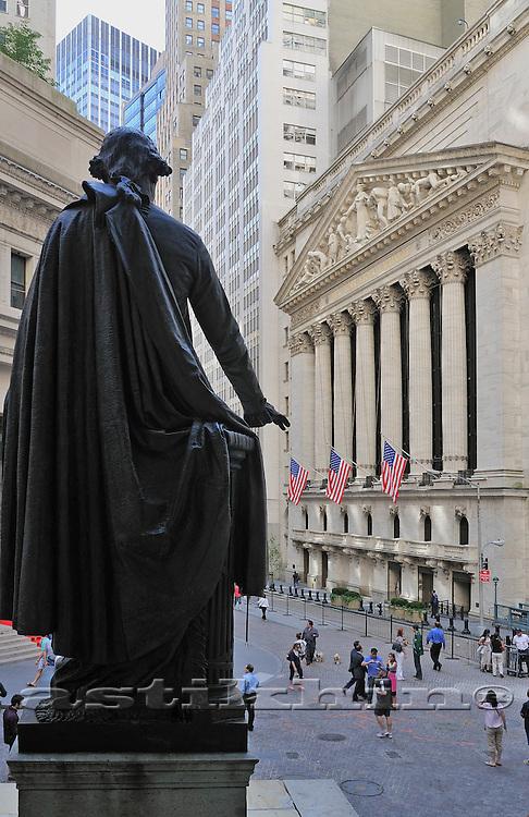 NYC, Wall Street, George Washington Statue.