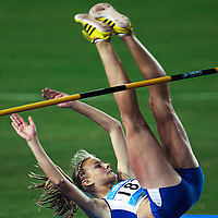 Michaela Hruba of the Czech Republic in action during the Women's High Jump Final at the Nanjing Youth Olympic Games 2014 in Nanjing, China, 24 August 2014. The Nanjing Youth Olympic Games 2014 run from 16 to 28 August 2014.
