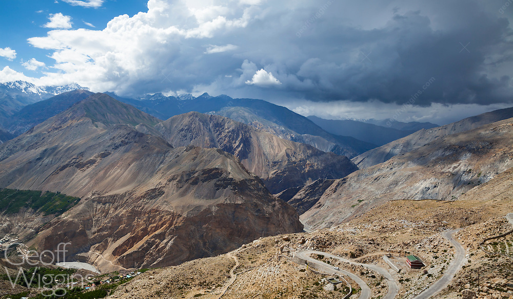 Mountain road in Spiti Valley, Himachal Pradesh, Northern India