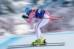 KITZBUHEL AUSTRIA. 22-01-2011. Georg Streitberger (AUT) speeds down the course competing in the 71st Hahnenkamm downhill race part of  Audi FIS World Cup races in Kitzbuhel Austria.  Mandatory credit: Mitchell Gunn