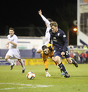 Jim McAlister rounds Raith Rovers' keeper Ross Laidlaw to score Dundee's second goal  - Raith Rovers v Dundee,  SPFL Championship at Starks Park<br /> <br />  - &copy; David Young - www.davidyoungphoto.co.uk - email: davidyoungphoto@gmail.com