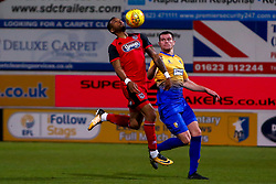 Wes Thomas of Grimsby Town chests the ball - Mandatory by-line: Ryan Crockett/JMP - 06/11/2018 - FOOTBALL - One Call Stadium - Mansfield, England - Mansfield Town v Grimsby Town - Sky Bet League Two