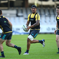 DURBAN, SOUTH AFRICA - MAY 06: Vaea Fifita during the Hurricanes Captains run at Growthpoint Kings Park on May 06, 2016 in Durban, South Africa. (Photo by Steve Haag/Gallo Images)