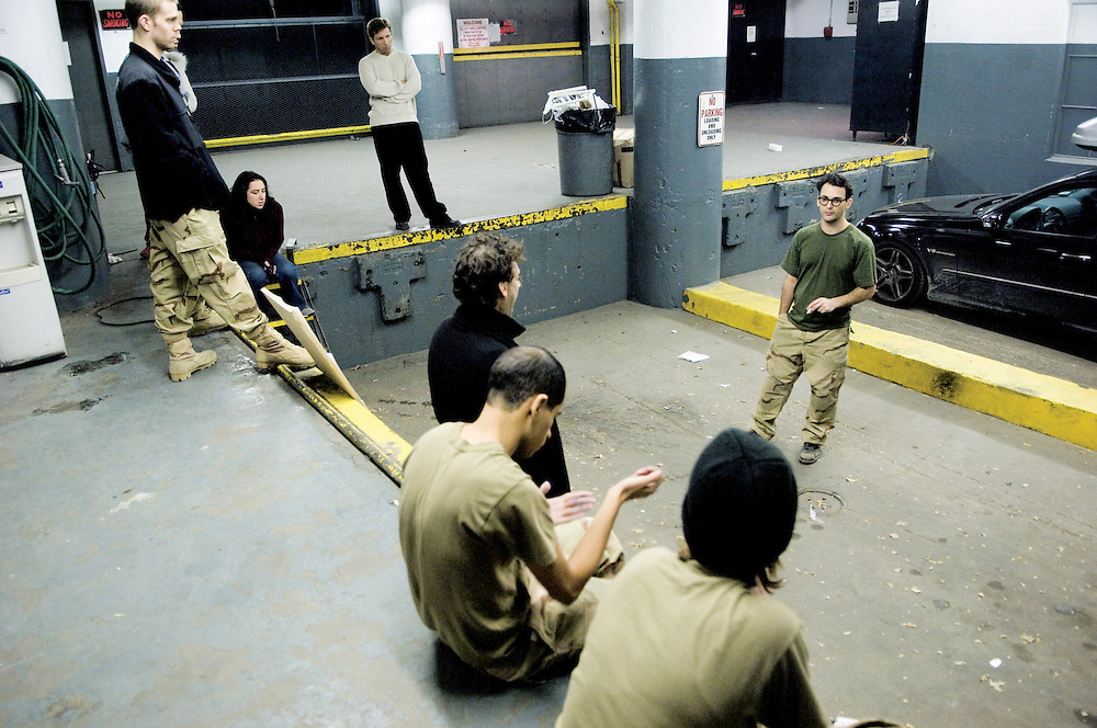 "Stills from the set of ""Memorial Day"", an independent movie exploring the psychology of American soldiers and the Abu Ghraib scandal; written and directed by Josh Fox, with  Josh Fox, Nick Konow, David Skeist, Johnnie Green, Caitlin Kronk and Robert Saietta; executive produced by Jim McKay and Michael Stipe of C-100 Films; associate produced by Morgan Jenness and Laura Wagner."