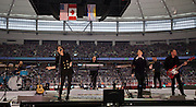 VANCOUVER, BC - MARCH 2:  Tegan and Sara perform before the 2014 Tim Hortons Heritage Classic game between the Ottawa Senators and the Vancouver Canucks at BC Place on March 2, 2014 in Vancouver, B.C., Canada.  (Photo by Kevin Light/NHLI via Getty Images)