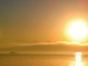 sunset tug boat