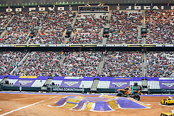 December 16, 2017 - Sao Paulo, Sao Paulo, Brazil - General view during a round of racing. Monster Jam was held at Corinthians Stadium, in Sao Paulo, Brazil. (Credit Image: © Paulo Lopes via ZUMA Wire)