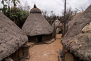 Gezahegne Woldu´s Compund, holy kraal ,from the Konso tribe, Omovalley,Ethiopia,Africa