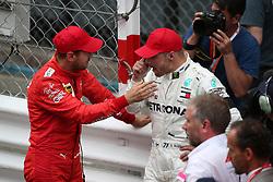 May 26, 2019 - Monte Carlo, Monaco - xa9; Photo4 / LaPresse.26/05/2019 Monte Carlo, Monaco.Sport .Grand Prix Formula One Monaco 2019.In the pic: Sebastian Vettel (GER) Scuderia Ferrari SF90 and Valtteri Bottas (FIN) Mercedes AMG F1 W10 (Credit Image: © Photo4/Lapresse via ZUMA Press)