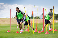 Dundee new boy Sofien Moussa during Dundee FC training at Michelin Grounds, Dundee, Photo: David Young<br /> <br />  - &copy; David Young - www.davidyoungphoto.co.uk - email: davidyoungphoto@gmail.com