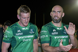 September 9, 2017 - Galway, Ireland - Eoin Griffin (L) and John Muldoon (R) of Connacht during the Guinness PRO14 rugby match between Connacht Rugby and Southern Kings at the Sportsground in Galway, Ireland on September 9, 2017  (Credit Image: © Andrew Surma/NurPhoto via ZUMA Press)