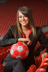 LIVERPOOL, ENGLAND - Thursday, September 6, 2007: Liverpool FC.TV presenter Claire Rourke at Anfield. (Photo by David Rawcliffe/Propaganda)