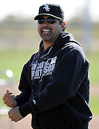 GLENDALE, AZ - FEBRUARY 23:  Manager Ozzie Guillen #13 of the Chicago White Sox looks on during a spring training workout on February 23, 2010 at the White Sox training facility at Camelback Ranch in Glendale, Arizona. (Photo by Ron Vesely)