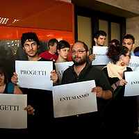 Flash mob 'Che la precarietà Termini adesso'