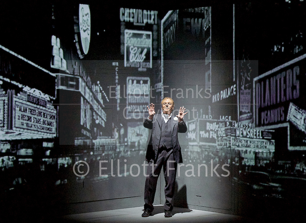 Needles and Opium <br /> by Ex Machina/Robert Lepage <br /> at The Barbican Theatre, London, Great Britain <br /> 7th July 2016 <br /> rehearsal <br /> <br /> directed &amp; presented by Robert Lepage<br /> <br /> Photograph by Elliott Franks <br /> Image licensed to Elliott Franks Photography Services