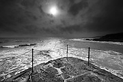 Such a dreary start to a few days in South West Cornwall to test out my new Fuji XT2, but during a stop off at Porthleven on the South coast, a weak sun burnt through the layers of gloom, and for just a few minutes it illuminated the choppy Atlantic ocean, seen from the end of the notoriously dangerous breakwater.