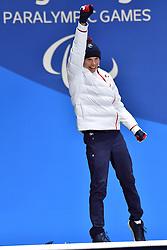 BAUCHET_Arthur, ParaSkiAlpin, Para Alpine Skiing, Super G, Podium at PyeongChang2018 Winter Paralympic Games, South Korea.