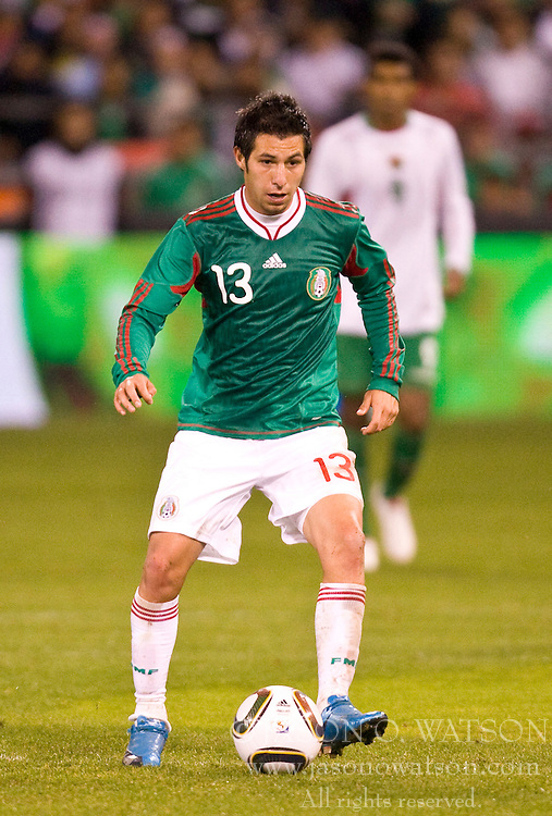 February 24, 2010; San Francisco, CA, USA;  Mexico midfielder Luis Miguel Noriega (13) during the first half against Bolivia at Candlestick Park. Mexico defeated Bolivia 5-0.