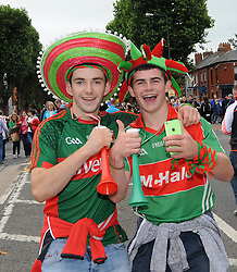 Mayo fans enjoying the atmosphere on All Ireland Final day Croke Park.<br /> Pic Conor McKeown
