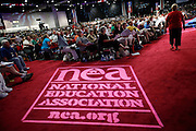 San Diego,CA- NATIONAL EDUCATION ASSOCIATION- The RA floor at the 147th Annual meeting.( Photo/ Scott Iskowitz/ RA TODAY)