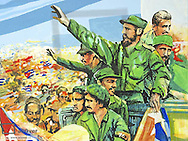 Havanna Vieja, old city, revolutionary museum, propaganda with the Maximo Lider, Fidel Castro, Cuba, Havanna
