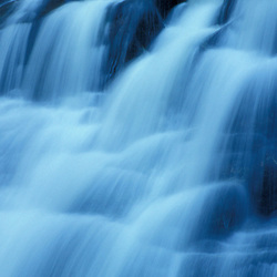 Kent Falls in Kent Falls State Park. Kent, CT.