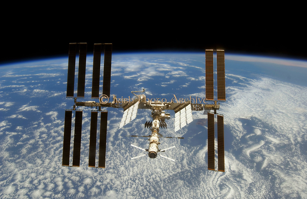 The International Space station in orbit over the earth