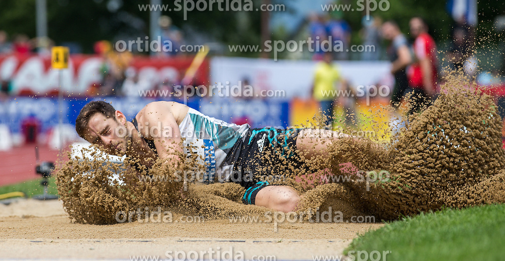 28.05.2016, Moeslestadion, Goetzis, AUT, 42. Hypo Meeting Goetzis 2016, Zehnkampf der Herren, Weitsprung, im Bild Ashley Bryant (GBR) // Ashley Bryant of United Kingdom during the Long jump event of the Decathlon competition at the 42th Hypo Meeting at the Moeslestadion in Goetzis, Austria on 2016/05/28. EXPA Pictures © 2016, PhotoCredit: EXPA/ Peter Rinderer
