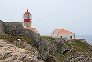 SAGRES, PORTUGAL - JULY 19, 2006: View to the lighthouse and buildizngs at St.Vincent cape in Sagres, Portugal.