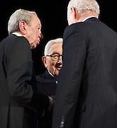 Former Secretarys of State, Henry Kissinger, Warren Christopher & James Baker at The Next President presented by CNN