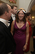Mike Parker and Tory Stewart. Connaught Square Squirrel Hunt Inaugural Hunt Ball. Banqueting House, Whitehall. 8 September 2005. ONE TIME USE ONLY - DO NOT ARCHIVE  © Copyright Photograph by Dafydd Jones 66 Stockwell Park Rd. London SW9 0DA Tel 020 7733 0108 www.dafjones.com