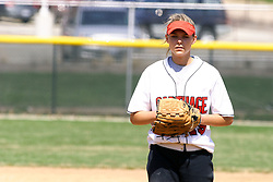 05 April 2008:  Kelsey Epping. The Carthage College Lady Reds lost the first game of this double header to the Titans of Illinois Wesleyan 4-1 at Illinois Wesleyan in Bloomington, IL