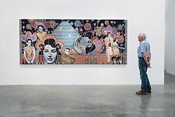 Lawrie Shabibi art gallery in warehouse in Alserkal Avenue arts district in Al Quoz in Dubai United Arab Emirates