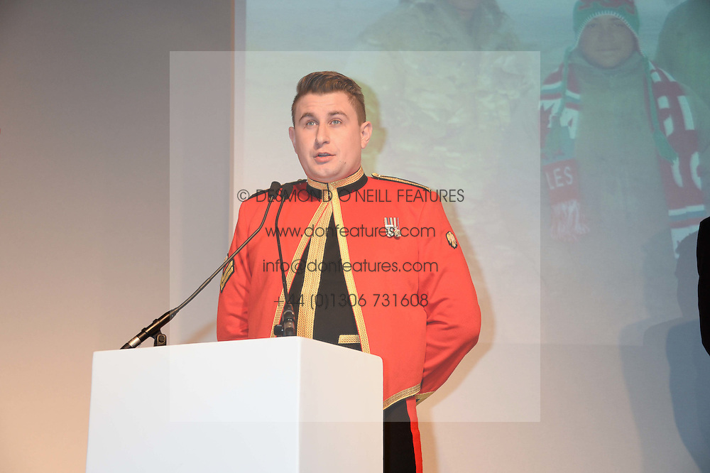 LANCE CORPORAL SCOTT BROWN at Fashion For The Brave at The Dorchester, Park Lane, London on 8th November 2013.