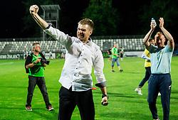 Simon Rozman, head coach of NK Domzale celebrates after winning during football match between NK Domzale and NK Olimpija Ljubljana in Final of Slovenian Cup 2017, on May 31, 2017 in Stadium Bonifika, Koper / Capodistria, Slovenia. Photo by Vid Ponikvar / Sportida