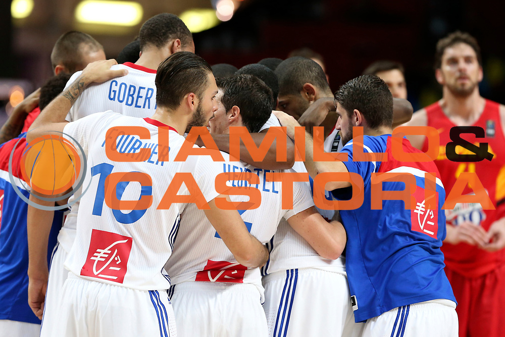 DESCRIZIONE : Madrid FIBA Basketball World Cup Spain 2014 1/4 Finals Francia Spagna France Spain<br /> GIOCATORE : team squadra<br /> CATEGORIA : <br /> SQUADRA : Francia France<br /> EVENTO : FIBA Basketball World Cup Spain 2014<br /> GARA : Brasile Argentina Brazil Argentina<br /> DATA : 10/09/2014<br /> SPORT : Pallacanestro <br /> AUTORE : Agenzia Ciamillo-Castoria/ElioCastoria<br /> Galleria : FIBA Basketball World Cup Spain 2014<br /> Fotonotizia : Madrid FIBA Basketball World Cup Spain 2014 1/4 Finals Francia Spagna France Spain