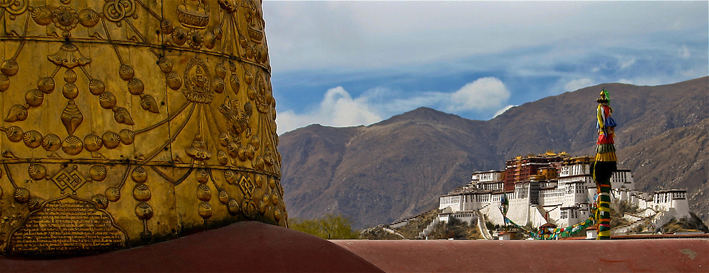 the Potala Palace, former home of his holiness the Dalai Lama in Lhasa Tibet.