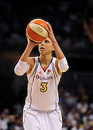 Sep 5, 2010; Phoenix, AZ, USA; Phoenix Mercury guard Diana Taurasi (3) shoots a free throw during the first half in game two of the western conference finals in the 2010 WNBA Playoffs at US Airways Center.  Mandatory Credit: Jennifer Stewart-US PRESSWIRE