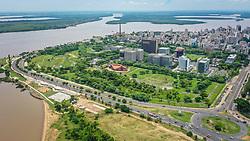 Porto Alegre, RS 23/01/2019: Vista área do Parque da Harmonia, na tarde desta quarta-feira (23). Foto: Jefferson Bernardes/PMPA