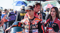 September 29, 2018 - 21, Michael Ruben Rinaldi, ITA, Ducati Panigale R, Aruba.it Racing - Junior Team, SBK 2018, MOTO - SBK Magny-Cours Grand Prix 2018, Race 1, 2018, Circuit de Nevers Magny-Cours, Acerbis French Round, France ,September 29 2018, action during the SBK Race 1 of the Acerbis French Round on September 29 2018 at Circuit de Nevers Magny-Cours, France (Credit Image: © AFP7 via ZUMA Wire)
