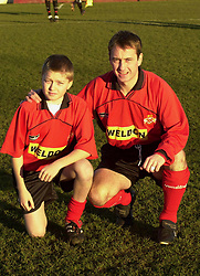 SHAUN MURRAY WITH MASCOT, Kettering Town v Chelmsford 29th December 2001