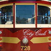 City circle tram which provides free transport around Melbourne's CBD
