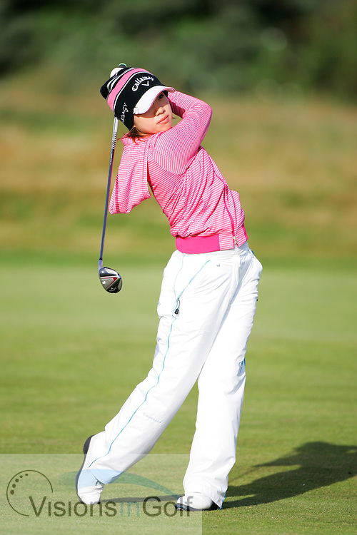 Kaori Ohe<br /> Ricoh Womens British Open 2012<br /> Picture Credit: Mark Newcombe  / www.visionsingolf.com