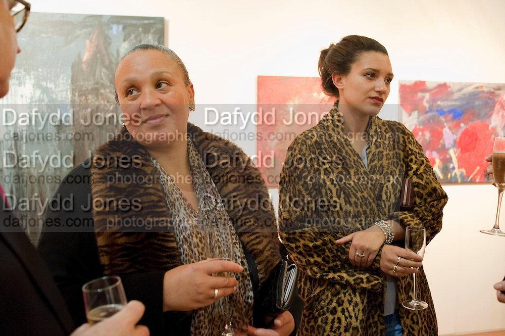 NINIVAH KHOMO; DELILAH KHOMO, Opening of ARTLondon 2010. Royal Hospital.  Royal Hospital Rd. London. 6 October 2010.  -DO NOT ARCHIVE-© Copyright Photograph by Dafydd Jones. 248 Clapham Rd. London SW9 0PZ. Tel 0207 820 0771. www.dafjones.com.